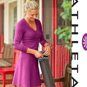 Athleta Senorita Fit Flare Organic Cotton Dress M